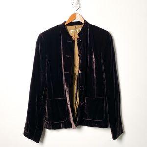 Vintage Silk Velour Eighties Bomber Blazer